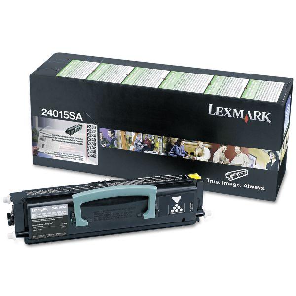 Lexmark 24015SA Black Return Program Toner Cartridge
