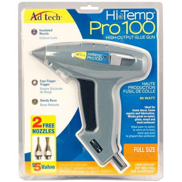 High-Temp Pro 100 Full Size Glue Gun W/Nozzle Pack