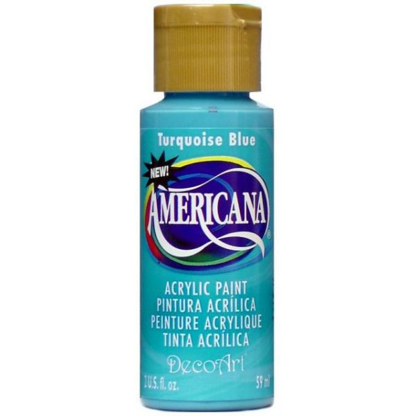 Deco Art Americana Turquoise Blue Acrylic Paint