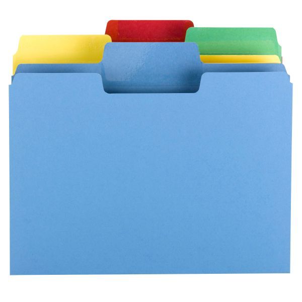 Smead Erasable SuperTab Colored File Folders