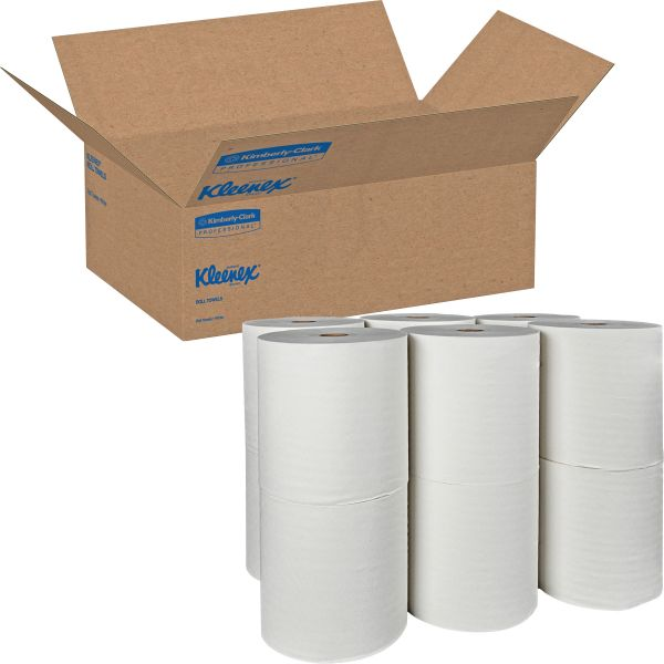 Kleenex Hardwound Non-Perforated Paper Towel Rolls