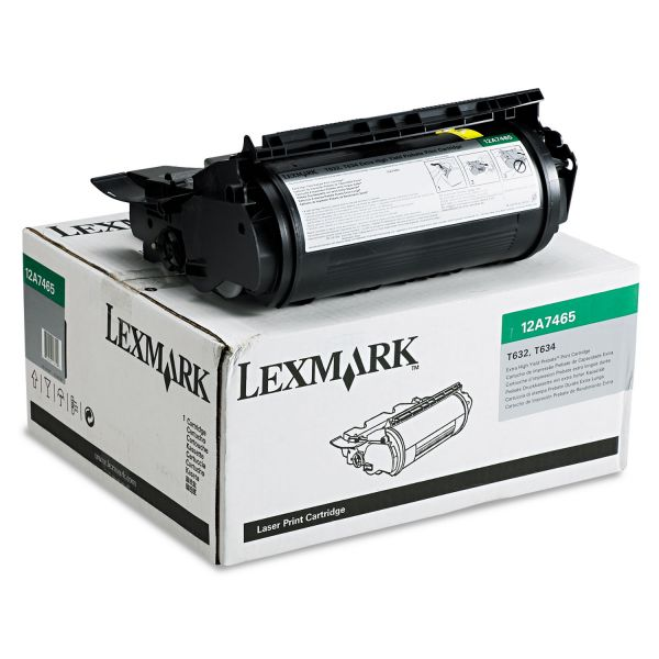 Lexmark 12A7465 Extra High-Yield Toner, 32000 Page-Yield, Black