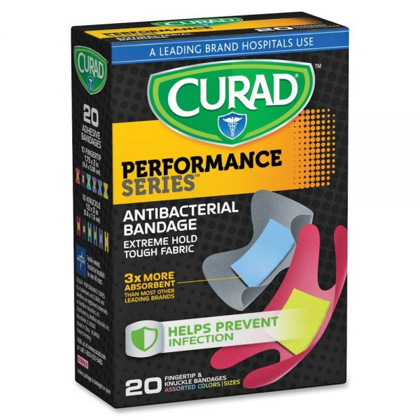 Curad Finger/Knuckle Antibactrl Bandages