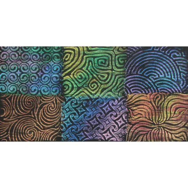 """Artist's Paintstiks Rubbing Plates 7.125""""X7.125"""" 6/Pkg"""