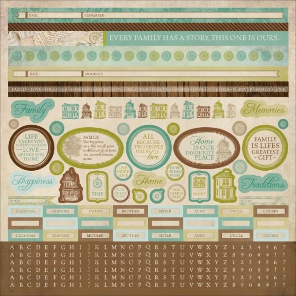 "Heirloom Cardstock Sticker Sheet 12""X12"""