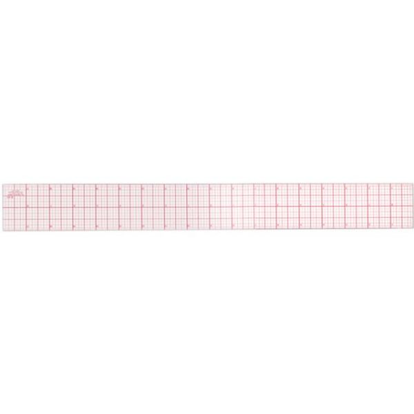 8ths Graph Beveled Ruler 18""