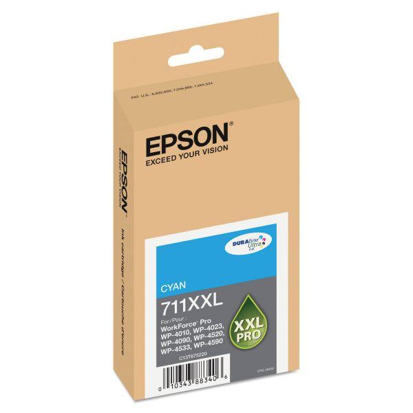 Epson 711 XXL Cyan High-Capacity Ink Cartridge (T711XXL220)
