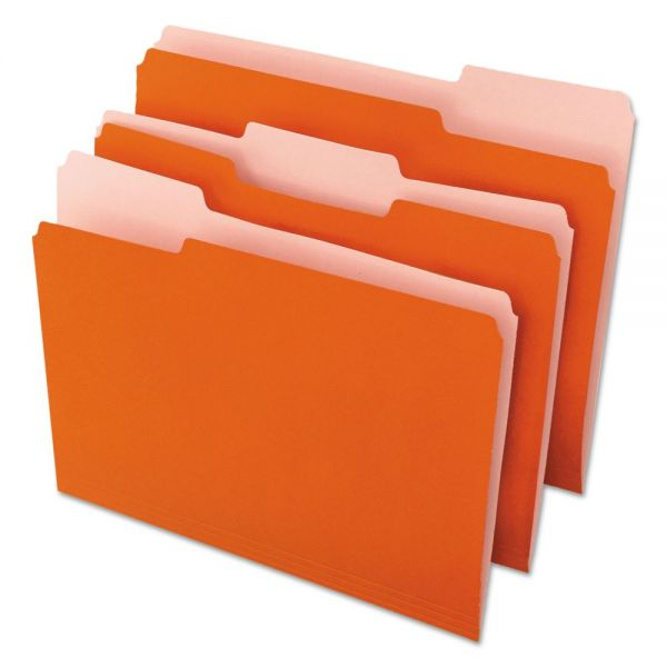 Universal One Orange Colored File Folders