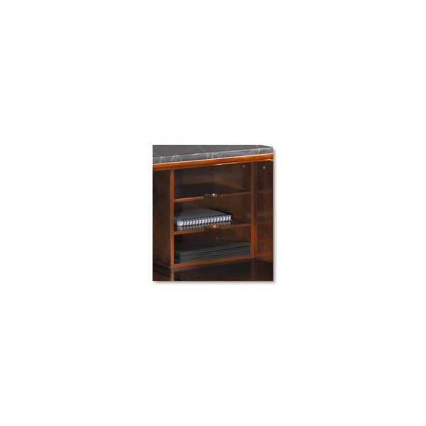 Tiffany Industries Sorrento Reception Counter Organizer, Bourbon Cherry, 13-3/4w x 9-3/4d x 13-3/4h