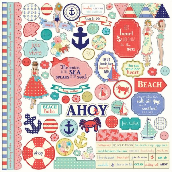 "Nautical Bliss Sticker 12""X12"""