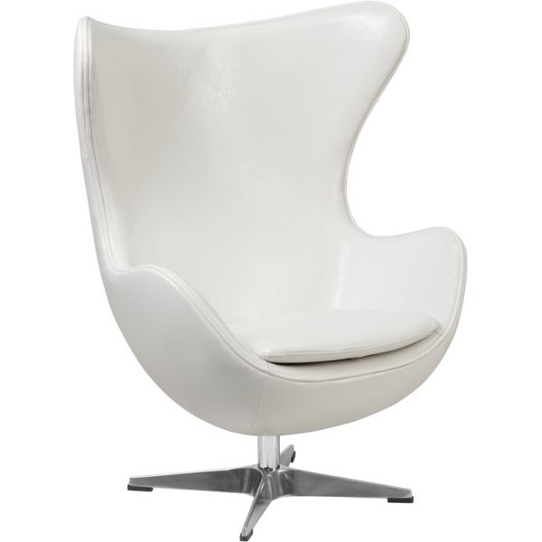 Flash Furniture Leather Egg Chair with Tilt-Lock Mechanism
