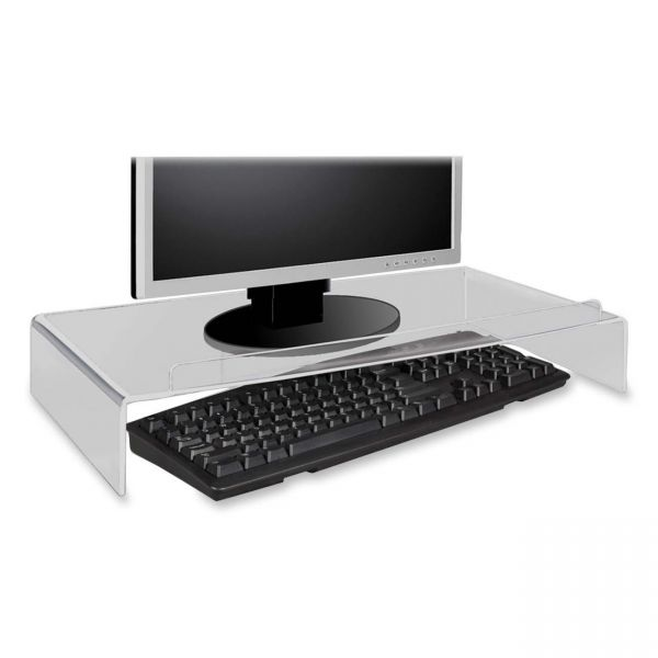 Kantek Acrylic Monitor Stand with Keyboard Storage
