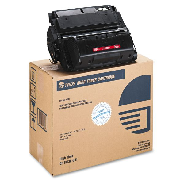 TROY 0281136001 42X High-Yield MICR Toner Secure, Alternative for HP Q5942X, Black