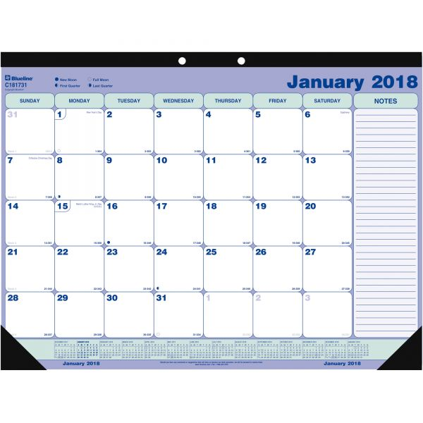 Rediform Monthly Desk Pad Calendar