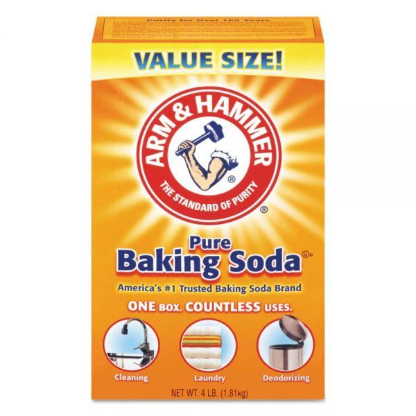 Arm & Hammer Baking Soda, 64 oz Box, 6/Carton