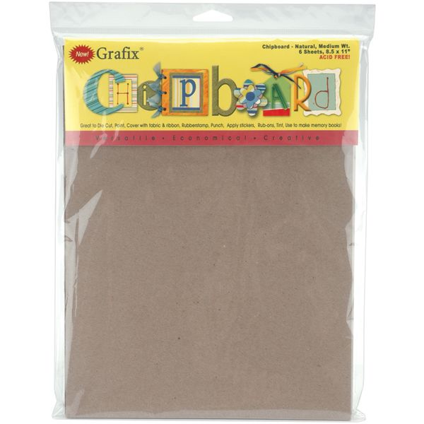 "Medium Weight Chipboard Sheets 8.5""X11"" 6/Pkg"