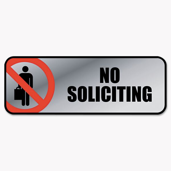 "COSCO ""No Soliciting"" Sign"