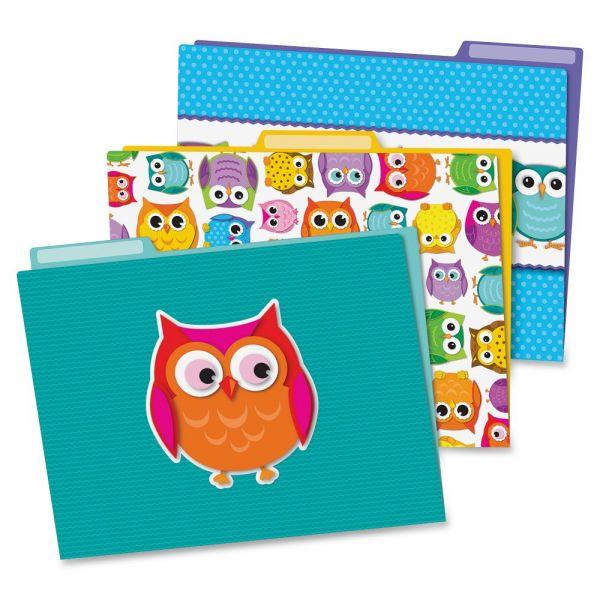 Carson-Dellosa Colorful Owls File Folders Set