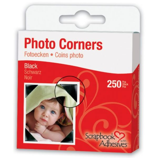 "Scrapbook Adhesives Photo Corners Self-Adhesive .375"" 250/Pk"