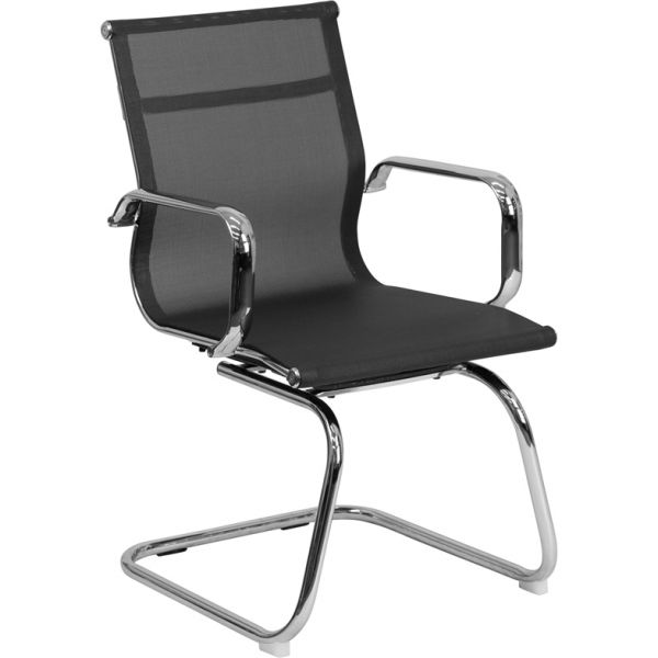 Flash Furniture Mesh Side Chair with Sled Base