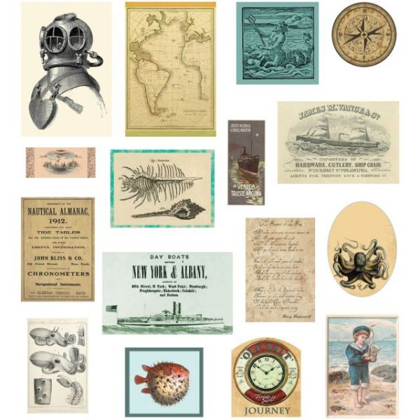 Maritime Mini Ephemera Die-Cuts 15/Pkg