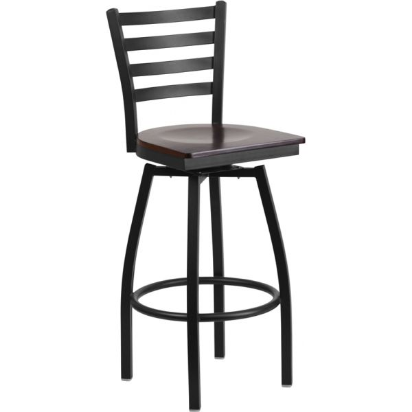 Flash Furniture HERCULES Series Ladder Back Swivel Barstool