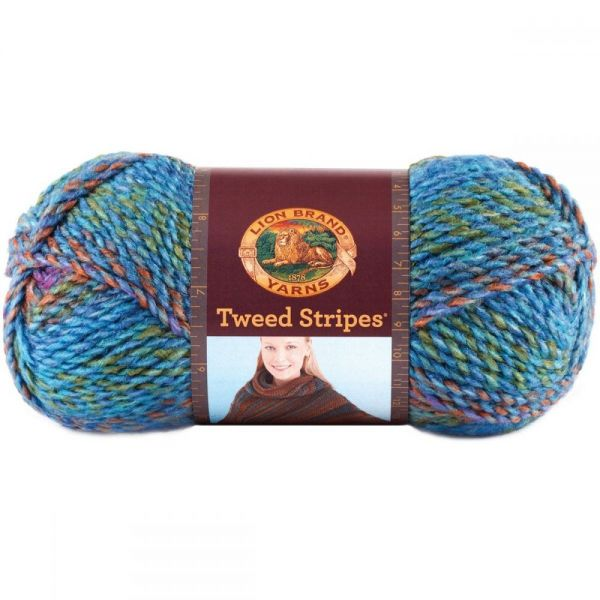 Lion Brand Tweed Stripes Yarn - Prism