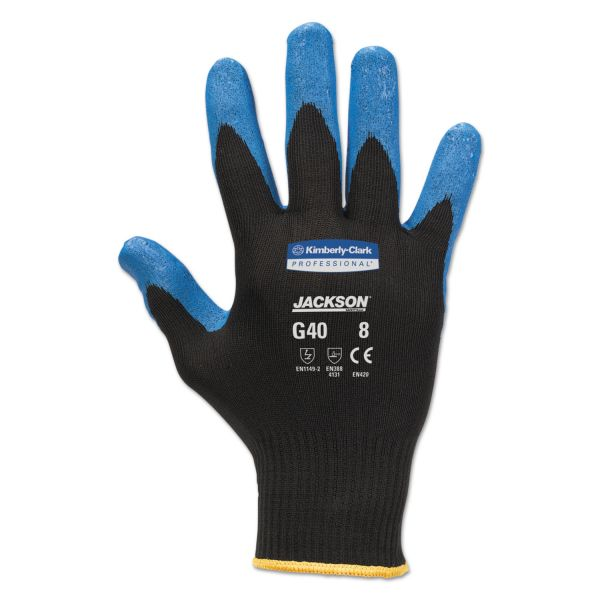 Jackson Safety* G40 Nitrile Coated Gloves, Small/Size 7, Blue, 12 Pairs