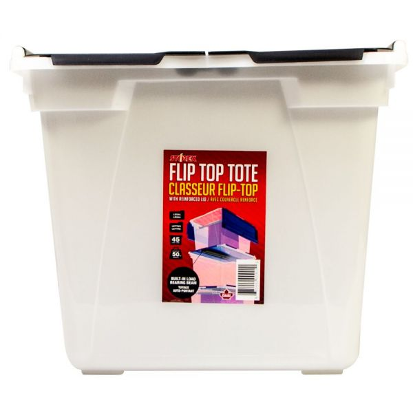 Storex Flip-Top Storage Tubs