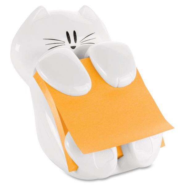 Post-it Pop-up Notes Super Sticky Pop-Up Note Dispenser Cat Shape, 3 x 3, White