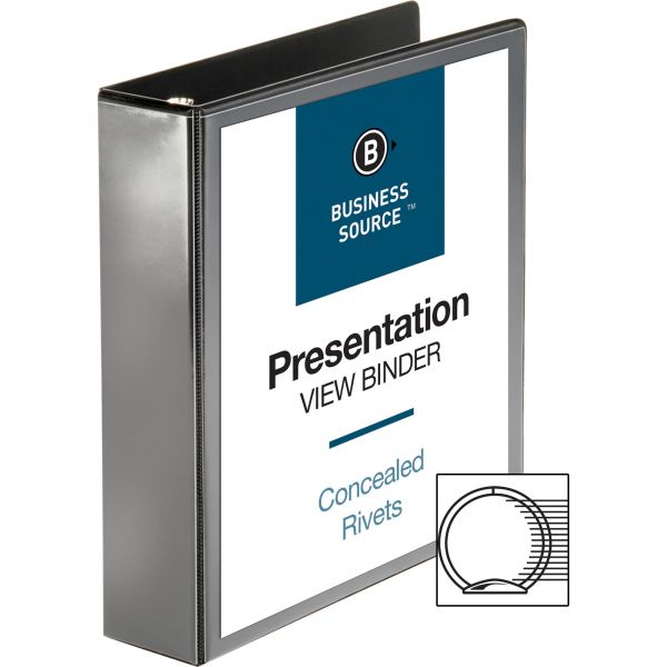 "Business Source Standard 2"" 3-Ring View Binder"