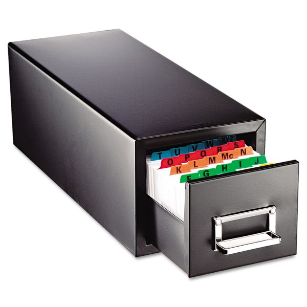 SteelMaster Drawer Card Cabinet Holds 1,500 4 x 6 cards, 8 7/8 x 18 1/8 x 8