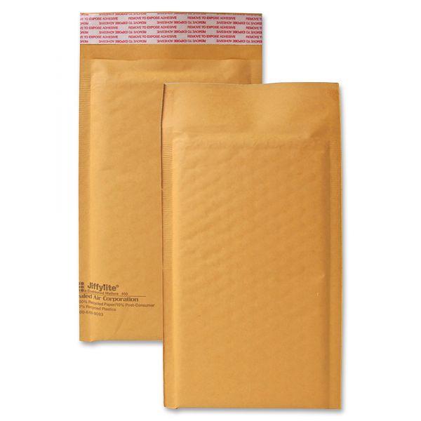 Sealed Air Jiffylite Self Seal Mailer, #00, 5 x 10, Golden Brown, 25/Carton