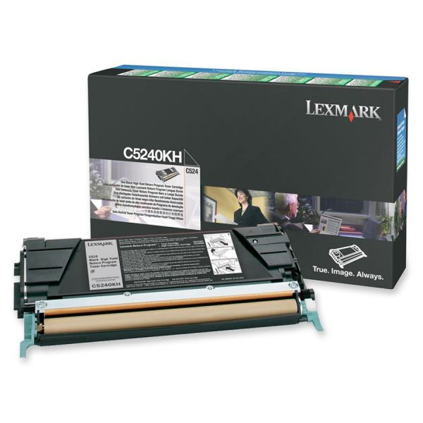 Lexmark C5240KH Black High Yield Return Program Toner Cartridge