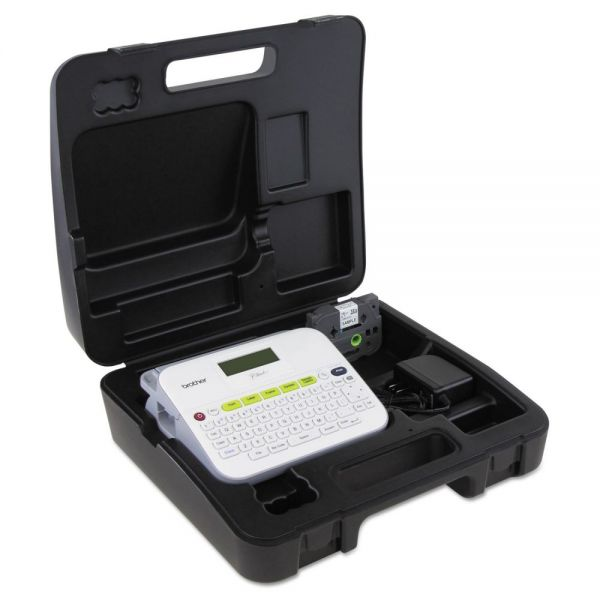 Brother P-Touch PT-D400VP Versatile Label Maker with AC Adapter and Carrying Case, White