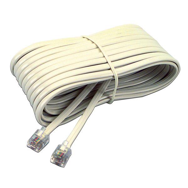 Softalk Telephone Extension Cord, Plug/Plug, 25 ft., Ivory