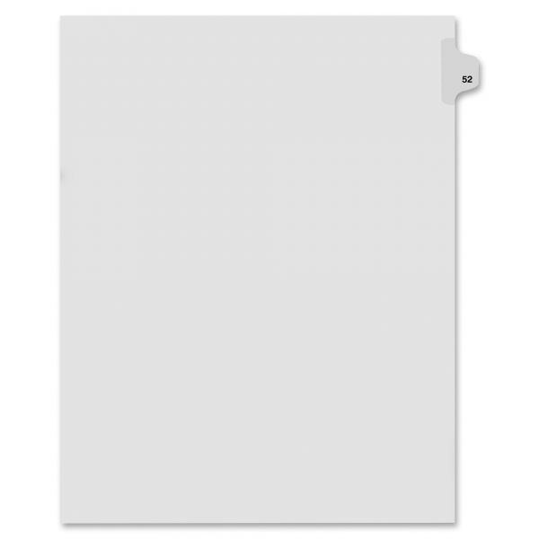 Kleer-Fax 80000 Series Side Tab Legal Index Dividers