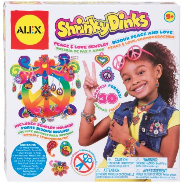 ALEX Toys Shrinky Dinks Peace & Love Jewelry Kit