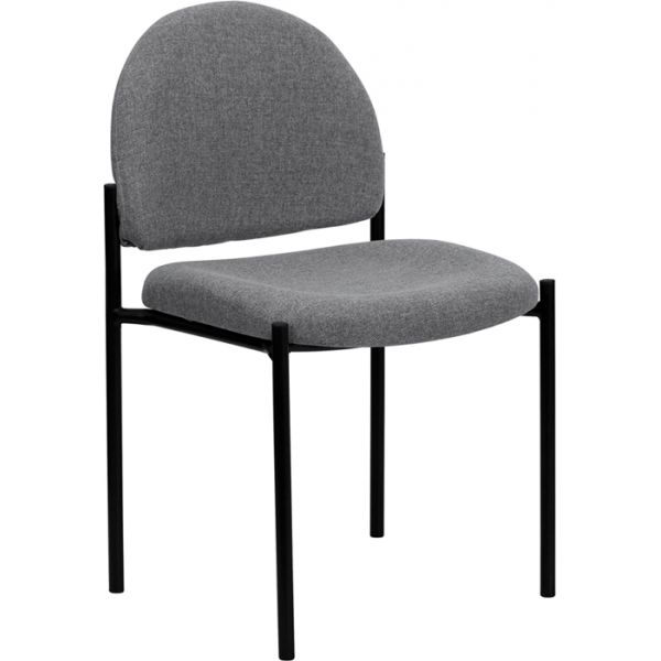 Flash Furniture Gray Fabric Comfortable Stackable Steel Side Chair
