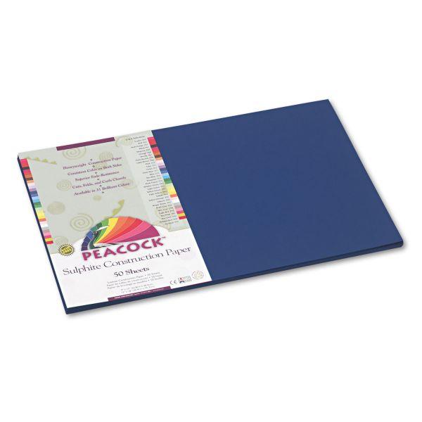 Peacock Sulphite Blue Construction Paper