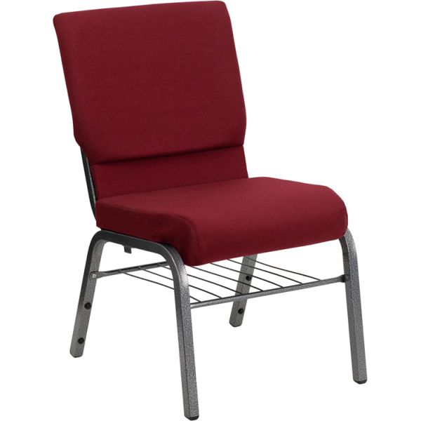 Flash Furniture Burgundy Fabric Big & Tall Church Chair