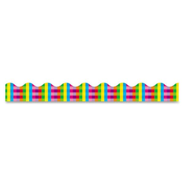 Trend Rainbow Plaid Terrific Trimmers
