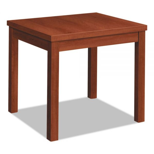 HON Laminate Occasional Table, Rectangular, 24w x 20d x 20h, Cognac