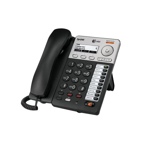 AT&T Syn248 IP Phone - Wireless - DECT 6.0 - Desktop, Wall Mountable