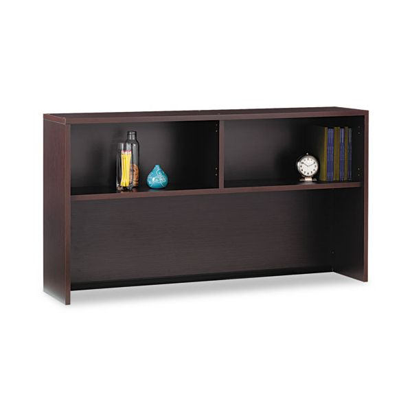 Global Genoa Series Open Hutch for Credenza, 66w x15d x 36h, Dark Espresso