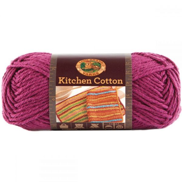 Lion Brand Kitchen Cotton Yarn - Grape