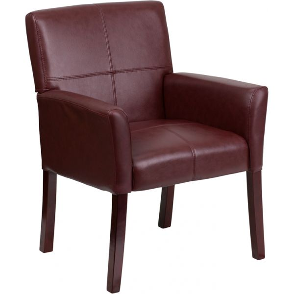 Flash Furniture Burgundy Leather Executive Side Chair [BT-353-BURG-GG]