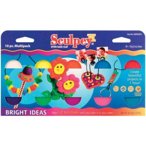 Sculpey III Polymer Clay Bright Ideas Multipack