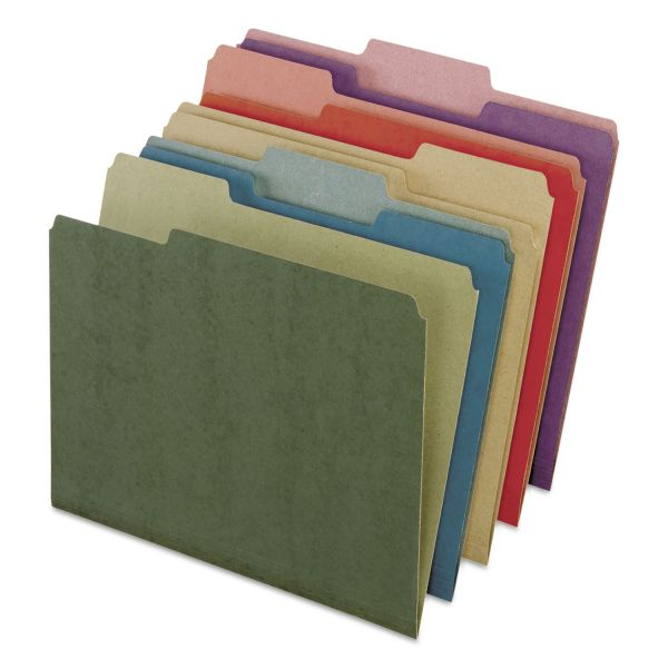 Pendaflex Earthwise by Pendaflex Recycled File Folders, 1/3 Top Tab, Ltr, Assorted, 50/BX