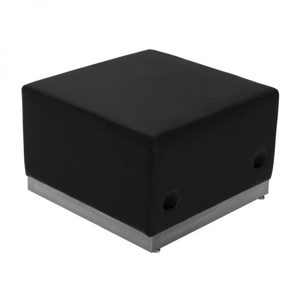 Flash Furniture Alon Series Black Leather Ottoman [ZB-803-OTTOMAN-BK-GG]